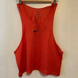⭐️Nike one size fits all orange/red tank